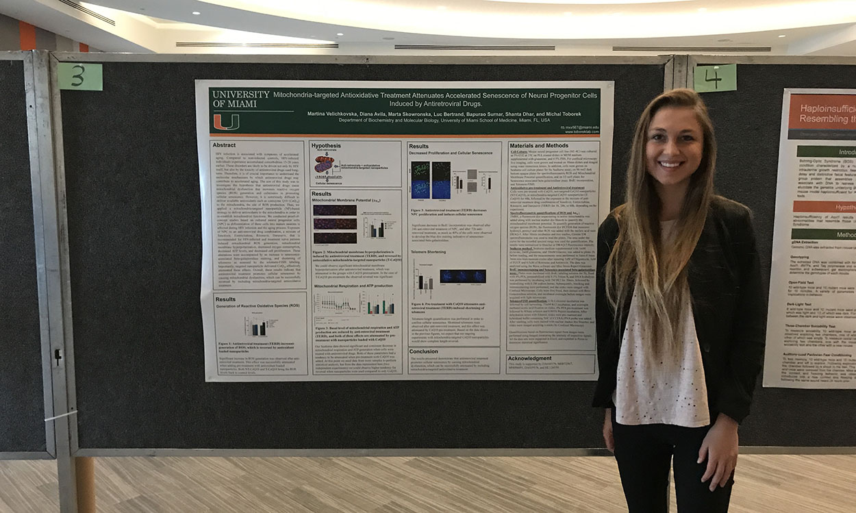 Student Presenting Poster at 2018 RCIF