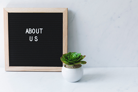 Letterboard- About Us