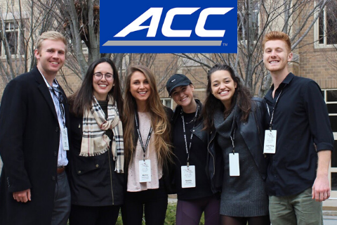 ACC Meeting of the Minds Students with Logo