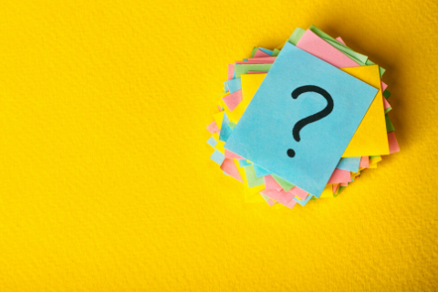Frequently Asked Questions Sticky Note